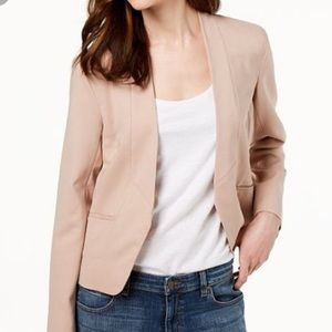 Eileen Fisher open front tan blazer
